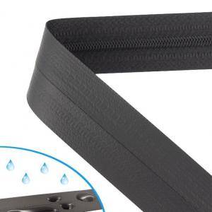 continuous waterproof zipper spiral 4mm matt black